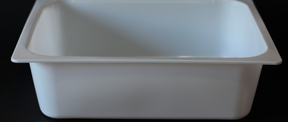 H95 - Taça Retangular Branca